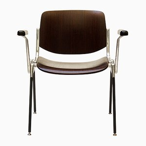 Brown DCS 106 Wooden Stacking Chair by Giancarlo Piretti for Castelli