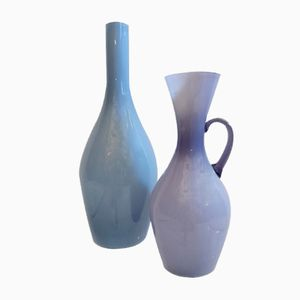 Mid-Century Swedish Glass Vases by Ekenäs, Set of 2