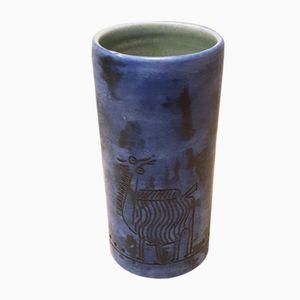 Vase Tube en Céramique par Jacques Blin, 1960s