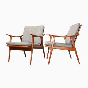 Mid-Century Model 563 Lounge Chairs by Fredrik Kayser for Vatne Lenestolfabrikk, Set of 2