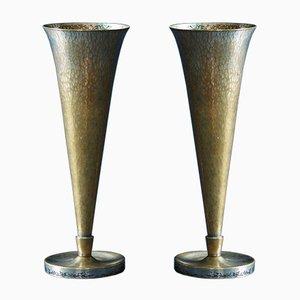 Model 388 Vases by Richard Riemerschmid for Wmf, 1930s, Set of 2