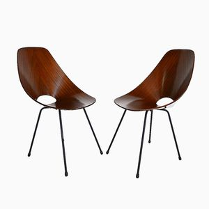 Medea Mahogany Chairs by Vittorio Nobili for Fratelli Tagliabue, 1955, Set of 2
