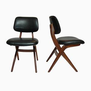 Mid-Century Pelican Esszimmerstühle von Louis van Teeffelen für Webe, 4er Set