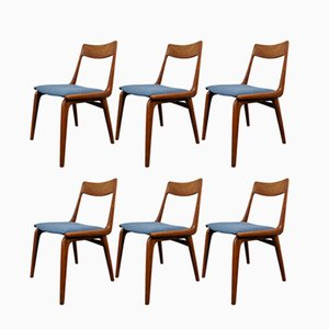Mid-Century Boomerang Dining Chairs by Alfred Christensen for Slagelse Møbelværk, Set of 6