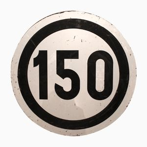 Large Vintage Railroad 150 Speed Limit Sign