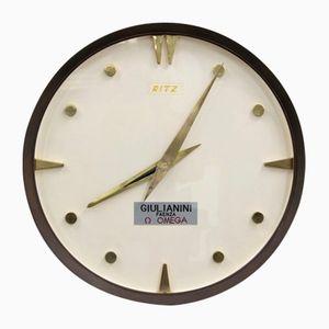 Vintage Brass Clock from Ritz