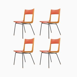 Italienische Boomerang Stühle von Carlo Ratti, 1950er, 4er Set