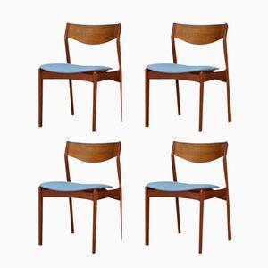 Mid-Century Danish Teak Chairs, Set of 4