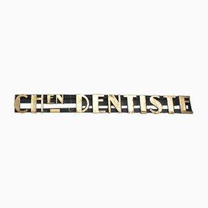 Panneau de Dentiste Vintage Art Déco, 1930s