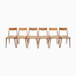 Dänische Vintage Boomerang Stühle aus Teak von Alfred Christensen für Slagelse, 6er Set