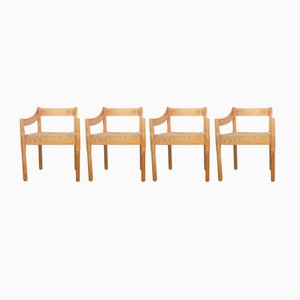 Carimate Pine Dining Chairs by Vico Magistretti for Cassina, Set of 4