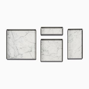 Modulare Fontane Bianche Tabletts aus Bianco Carrara Marmor von Elisa Ossino für Salvatori