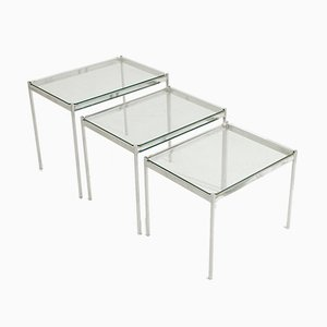 Italian Chromed Nesting Tables, 1970s