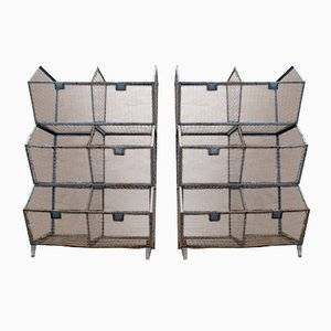 Industrial Iron Wall Units, 1950s, Set of 2