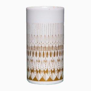 Vintage Vase in Weiß und Gold von Hans Theo Baumann für Rosenthal, 1970er
