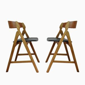Vintage Dining Chairs by Henning Kjærnulf for Boltings Stolefabrik, Set of 2