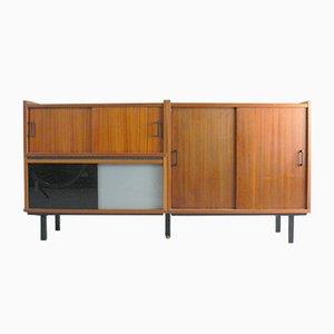 Sideboard aus Mahagoni Furnier & Glas, 1960er