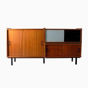Sideboard in Mahagoni Furnier & Glas, 1960er