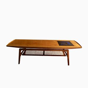 Teak Coffee Table by Arne Hovmand Olsen for Mogens Kold Mobelfabrik, 1950s