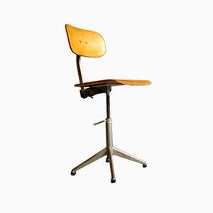Verstellbarer Industrieller Vintage Bürostuhl