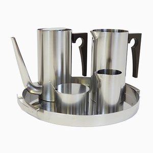 Cylinda Line Tea Set by Arne Jacobsen for Stelton, 1967