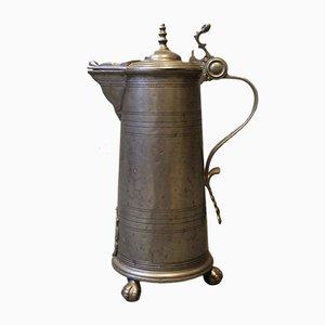Large Lidded Mug in Tin, 1780s