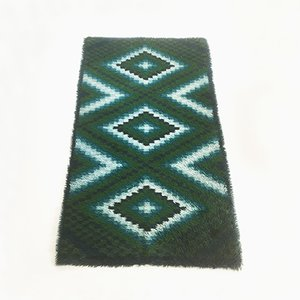Scandinavian Square Pattern Rya Rug by Ege Taepper, 1960s