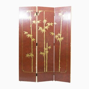 French Three-Paneled Lacquered Screen, 1940s