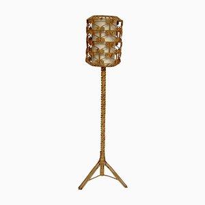 Vintage Rattan Floor Lamp