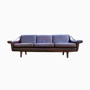 Leder Sofa von De Sede, 1960er