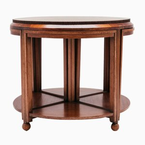 Art Deco Gueridon with Nesting Tables from De Coene, 1930s