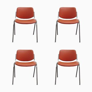 DSC 106 Stacking Chairs by Giancarlo Piretti for Castelli, 1970s, Set of 4