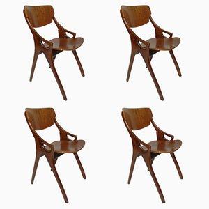Mid-Century Dining Chairs by Arne Hovmand Olsen for Mogens Kold, Set of 4