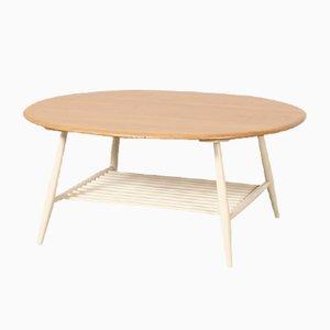Tavolino da caffè ovale di Lucian Ercolani per Ercol, anni '60