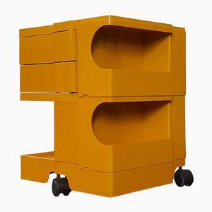Gelber Vintage Boby Aufbewahrungswagen von Joe Colombo für Bieffeplast