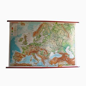 Vintage Large European Map from Westermann