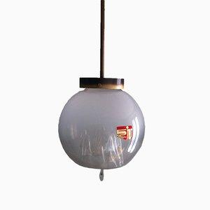 Vintage Italian Murano Glass Globe Pendant Lamp by Toni Zuccheri for Venini