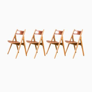 CH29 Sawbuck Dining Chairs by Hans Wegner for Carl Hansen & Son, 1960s, Set of 4