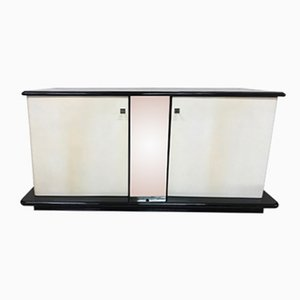Italian Black & Ivory Lacquered Sideboard, 1930s
