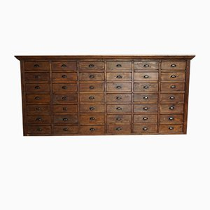 Large French Pine Apothecary Cabinet, 1950s