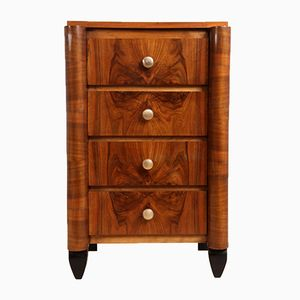 French Art Deco Walnut Chest of Drawers, 1930s
