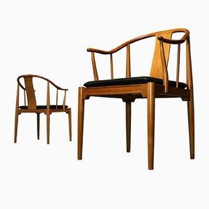 4283 China Chairs aus Kirschholz von Hans J. Wegner für Fritz Hansen, 1978, 2er Set