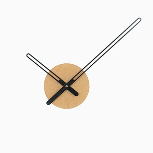 Sweep Clock in Ocher & Black by Christopher Konings for Nordahl Konings, 2017