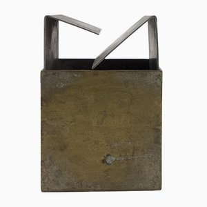 Cubo Brass Ashtray by Bruno Munari for Danese, 1957