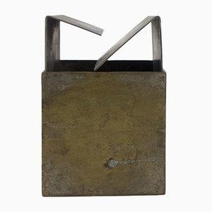 Cubo Brass Ashtray by Bruno Munari for Danese, 1957