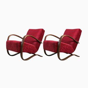 Vintage Chairs by Jindřich Halabala, Set of 2