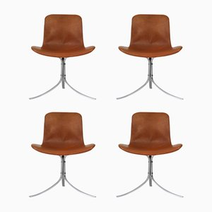 PK-9 Chairs by Poul Kjaerholm for E. Kold Christensen, 1960s, Set of 4