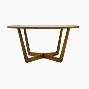 Mid-Century Teak Circular Coffee Table from Beithcraft