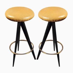 Bar Stools by Osvaldo Borsani for Atelier Borsani Varedo, 1950s, Set of 2