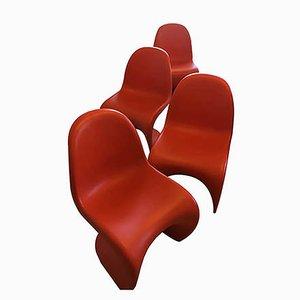 Vintage Panton Stühle von Verner Panton für Vitra, 4er Set